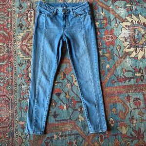 Levi's front seam mid rise jeans